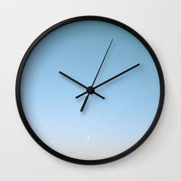 Silver Moon Wall Clock