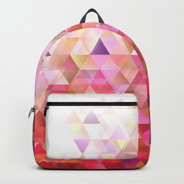 Geometric Abstract Gradient Triangle Pattern Background Backpack