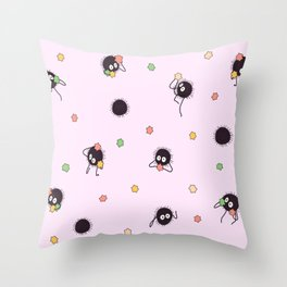 Soot sprites - Chihiro Throw Pillow