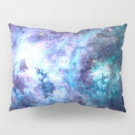 Tarantula Nebula Blue Lavender Gold Pillow Sham