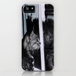 Cat Reflection And The Snapped Menace  iPhone Case