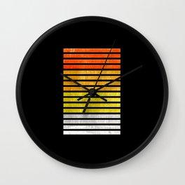 Color blocks textured - Digital Illustration Wall Clock