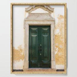 Old door in Tavira, Portugal Serving Tray