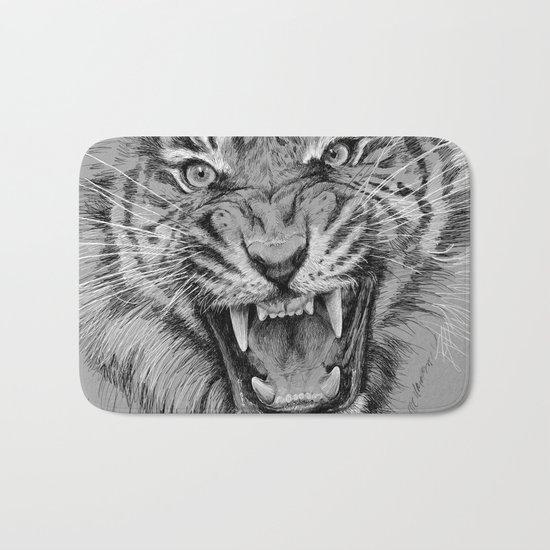 Tiger Portrait Animal Design Bath Mat