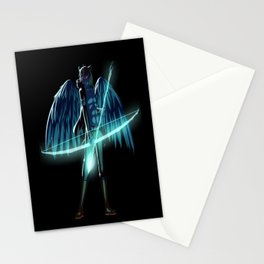 Luc Ready for Battle (Black/Dark Background) Stationery Cards