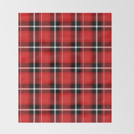Red + Black Plaid Throw Blanket