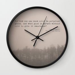 How Can One Know Color? Wall Clock