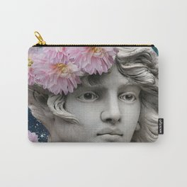 Statue with Dahlias Carry-All Pouch