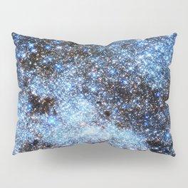 Blue gAlaxY Sparkle Stars Pillow Sham