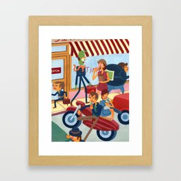 Ice Cream Greasers Framed Art Print