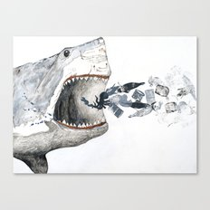 Shark vs. Misc. Canvas Print