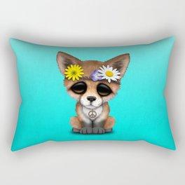 Cute Baby Fox Hippie Rectangular Pillow