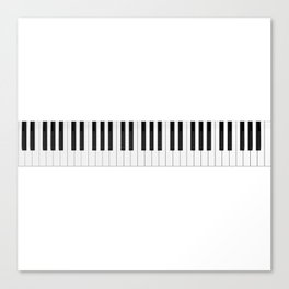 Piano / Keyboard Keys Canvas Print