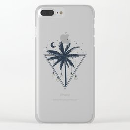 Lamps On The Palm Tree. Geometric Style Clear iPhone Case