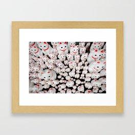Manekinekotachi Framed Art Print