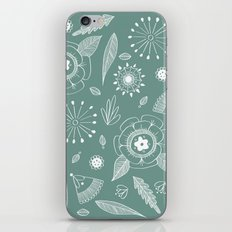 Flora Pattern II Light on Dark iPhone & iPod Skin