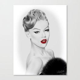 Vintage Fashion Illustration Canvas Print