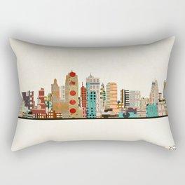 kansas city skyline Rectangular Pillow