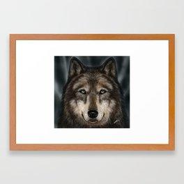 Wolf Painting Framed Art Print
