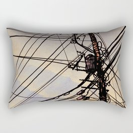 wires up Rectangular Pillow