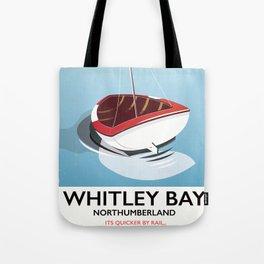 Northumberland Whitley Bay travel poster Tote Bag