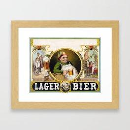 Vintage Lager Beer Advertisement Framed Art Print