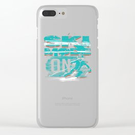 Ski Mode On Outdoor Snow Adventure Clear iPhone Case