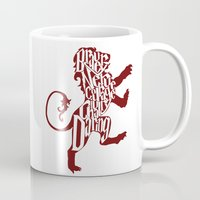 gryffindor Mugs featuring Gryffindor Pride by Gabriela Michelle