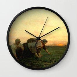 Jules Breton - The Weeders Wall Clock