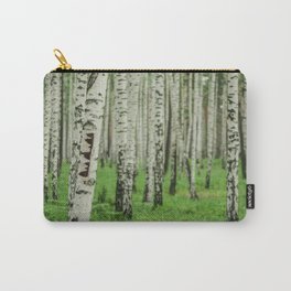 Forrest of white trees Carry-All Pouch