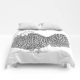 Zentangle  Funky Chicken Illustration Comforters