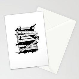 Monstres derrière le mur Stationery Cards