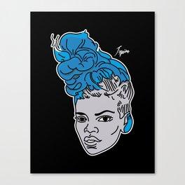 Rude Blue Canvas Print