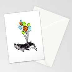 Balloons Whale Stationery Cards