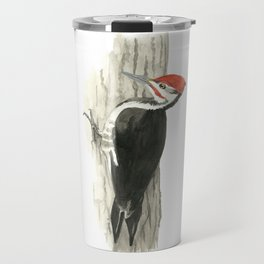 Pileated Woodpecker - Watercolor Travel Mug