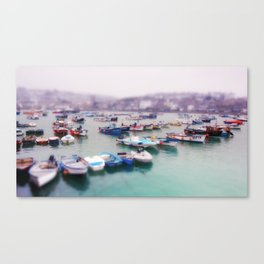 Foggy boats in St Ives Canvas Print