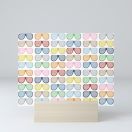 Rainbow Shutter Shades Mini Art Print