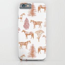 HORSES & AUTUMN TREES PATTERN  iPhone Case