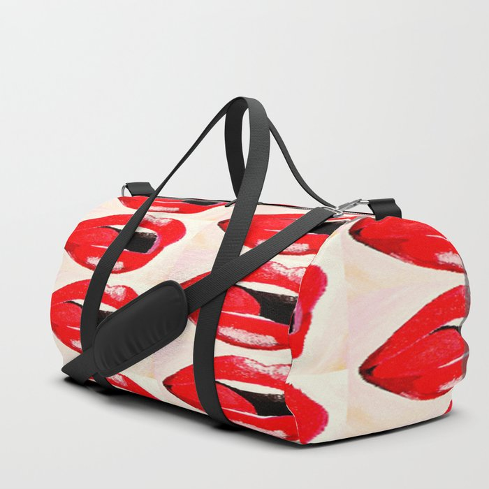 Red Lips #society6 #decor #buyart Duffle Bag