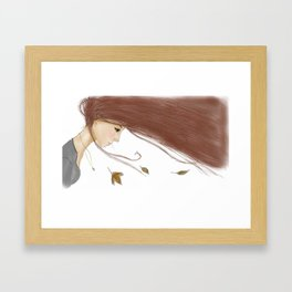 Autumn Girl Framed Art Print