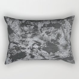 Black Ink on Grey/Gray Background Rectangular Pillow