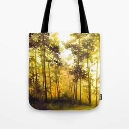 treescape - watercolor painting Tote Bag