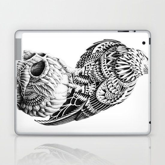 Red-Tail Skull Laptop & iPad Skin