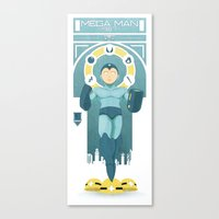 mega man Canvas Prints featuring Mega Man by yoursocialghost