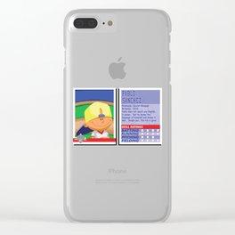 Pablo Sanchez Stat Card -Backyard Baseball Clear iPhone Case
