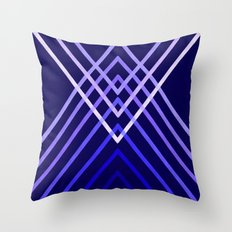 Energy in Blue Throw Pillow