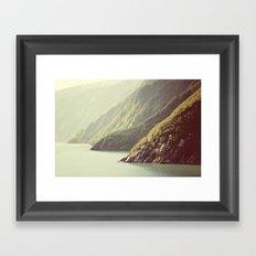 Alaskan hills fading Framed Art Print