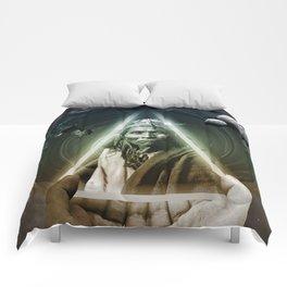 Dark Bubbles Comforters