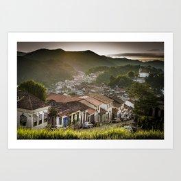 Sunset in Ouro Preto Art Print