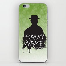 Say My Name - Heisenberg (Silhouette version) iPhone & iPod Skin